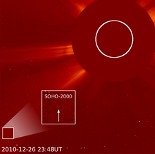 SOHO's 2000th Comet Spotted By Student
